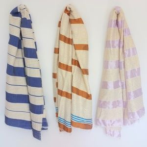 Accessories - Gold Accented Linen Scarves